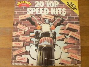 LP RECORD VINYL 20 TOP SPEED HITS ARCADE THE SWEET,ABBA,JOHN,TEE SET,REDBONE,A