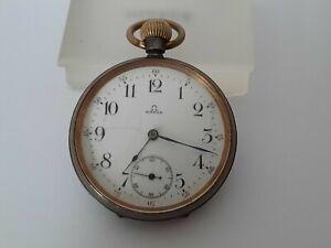 Omega Pocket Watch Gunmetal - Open Face - Ref 4386985