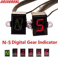 12V N-5 Speed Digital Gear Indicator Motorcycle Shift Lever Sensors Gear Display