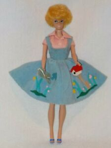 Vintage Mattel Blonde Bubblecut Barbie Doll Dressed