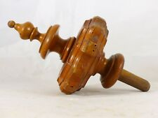 French Antique Architectural Turned Carved Wood Stairwell Finial Staircase #3
