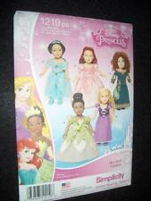 "18"" DOLL NEW Simplicity 1219 Pattern Princess Dresses fits American Girl"