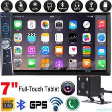 "7"" Double 2 Din Car Multimedia Radio MP5 Player Bluetooth Aux Input FM HD Camera"