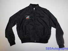 Vintage 1980s ENJOY MINUTE MAID ORANGE SODA Advertising Black Zip Jacket SIZE XL