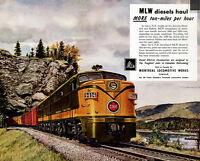 "Canadian National Railway ""Montreal Locomotive Works"" Train Metal Sign"