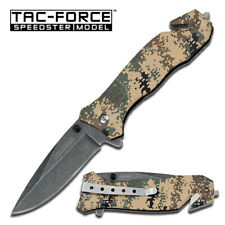 TAC-FORCE Spring Assisted EDC Tactical Folding Rescue Pocket Knife TF-434DTC