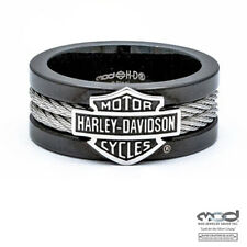 Harley-Davidson MOD Steel Cable Band Ring * Gr. US 14 = 24 mm Ø - Edelstahl