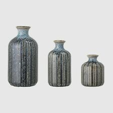 Bloomingville, Blue Vase, stoneware, set of 3