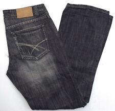 Fishbone Herren Men Jeans Hose Straight 32/34 W32 L34 Stonewashed Grau B479