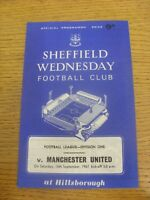 16/09/1967 Sheffield Wednesday v Manchester United  .  Thanks for viewing our it