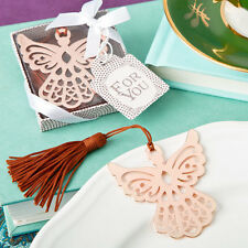 30 Angel Book Mark Rose Gold Wedding Favor Christenings Party Event Bulk Lot