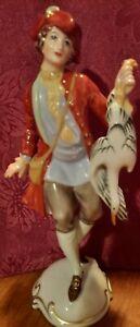 Antique Rosenthal Classic Rose Porcelain Huntsman Figurine