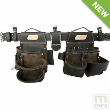 AWP HP Tool Rig Bag Leather Belt Brown General Construction Flip Pocket