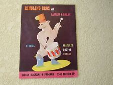 1949 Ringling Bros Barnum & Bailey circus magazine program photos stories old ad