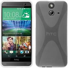 Silicone Case for HTC One E8 X-Style transparent + protective foils