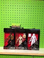 Hasbro Star Wars Black 6 Inch Series Rey BB-8 SnowTrooper & Finn Lot of 3 TFA