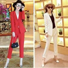 Cotton Blend Single-Breasted Suits & Suit Separates for Women
