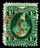 """""""Red APR 1 1965"""" Proprietary Year Date Cancel SON 3 Cent Revenue US 65B34"""