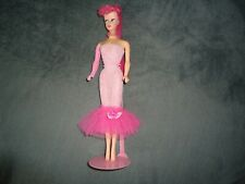 Barbie Ponytail repro OOAK doll with Pink hair and pink dress