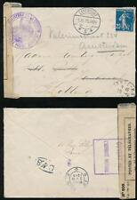 FRANCE 1915 WW1 MINISTERE GUERRE CENSOR DIEPPE to HOLLAND 25c OPENED BOXED