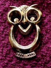 Tone Brooch Wise Owl Gold