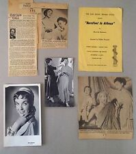 1955 Barefoot in Athens - Program Photos News Clippings San Diego Puppet Theater