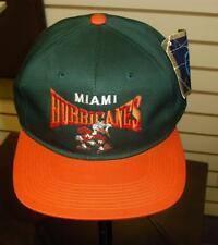 Miami Hurricanes hat VINTAGE snapback 90's RARE style new w/ tag NwT DS Canes ds