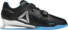 Reebok Legacy Lifter Mens Weightlifting Shoes Black Blue Bodybuilding Boots Gym