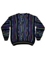 Vintage Roundtree & York Coogi Style Sweater Cosby Multicolor Size Large