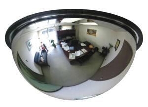Quarter / Full Dome Convex Acrylic Security Mirror - 90° / 360° Display