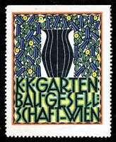 Austria Poster Stamp - Publicity Gartenbaugesellschaft Wien