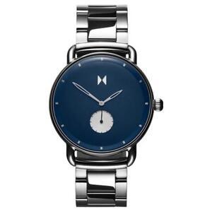 MVMT Watches REVOLVER OPAR Blue Silver Steel Metal Strap Men's Watch