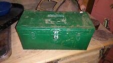 LQQK Vintage Climax Hamilton Metal Products Co. Tackle Fish Tool Storage Box