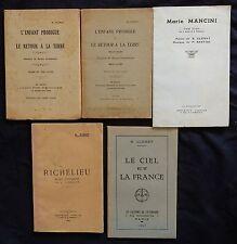 J/ Lot de 5 ouvrages de B. CLENET (poète Vendéen)