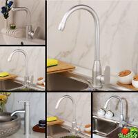 Space Aluminium Kitchen Sink Bathroom Basin Mixer Faucet Chrome Single Hole Taps