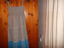 Blue and grey summer maxi dress, LOLLIPOPS AND ICE CREAM, size 10, 12,14