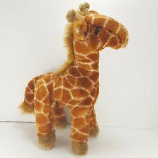 """Giraffe Standing Realistic Stuffed Plush Toy Animal Brown 12"""" Zoo Safari Wego"""
