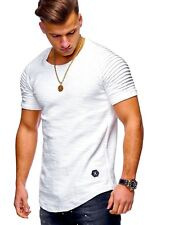 Men's Slim Fit O Neck Short Sleeve Muscle Tee T-shirt Casual Tops Henley Shirts