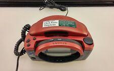 CONAIRPHONE - Home Designs Telephone Clock Radio w/ Caller ID, Model CID400-Gray