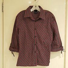 Australian Designer Sally Ramage Striped Shirt (Size 14). Great for work