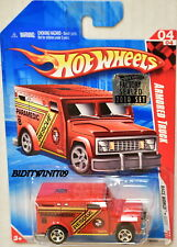 HOT WHEELS 2010 RACE WORLD ARMORED TRUCK RED FACTORY SEALED