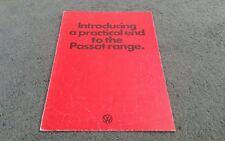 February 1975 VW PASSAT 5 DOOR HATCHBACK UK FOLDER BROCHURE