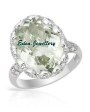 $240 WOW.. FPJ Stunning 8.25ct Green Amethyst Zirconia Sterling Silver 60% OFF