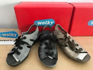Wolky Alula 0653 Women's Lace-Up Sandals (Breathable Cork Footbed, 3 Colors)