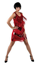 LADIES 20s 30s RED CHICAGO GATSBY FLAPPER HALLOWEEN DEVIL COSTUME 10-12 NEW