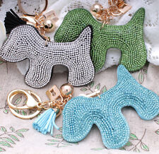 Hot Fashion Sparkly 700+ Crystals Rhinestones Dog For Women Handbag Keyring Bag