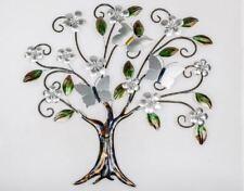 670830 décoration murale Arbre 76x74cm avec feuilles fleurs & Papillons décoré