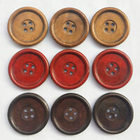 30pcs Wooden Wood Button Big 40MM Round Wine Coffee Brown Craft Sewing Coat Hat