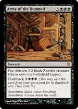 ARMY OF THE DAMNED Commander 2013 MTG Black Sorcery Zombie MYTHIC RARE
