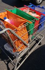 Reusable Shopping Bags Eco Foldable Trolley Tote Grocery Cart Storage Set Of 4